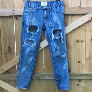 One Teaspoon Trashed Free Birds Jeans